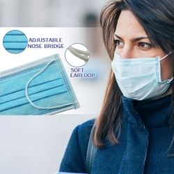 [ 1 Day Dispatch] 1 x Disposable 3Ply Face Mouth Mask Anti Bacterial / Virus Medical Standard Waterproof